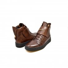 "British Collection ""Empire"" Brown Leather High Top w/Crepe Sole"