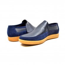 "British Collection ""Norwich"" Navy Suede and Leather"