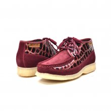 British Collection Knicks Croc-Burgundy Suede and Croc