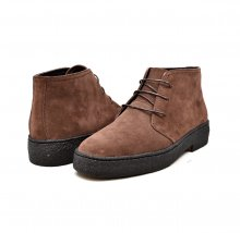 British Collection Playboy Original High Top Brown Suede