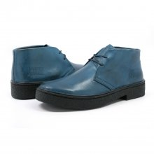 Classic Playboy Chukka Boot Denim Blue Leather