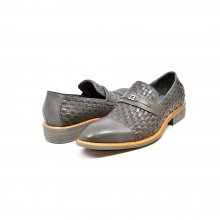 "British Collection ""Azure"" Grey Woven Leather"