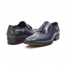 "British Collection ""Rick"" Navy Leather Slip-on"