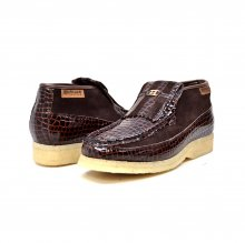 British Collection Apollo Croc-Brown Suede and Croc