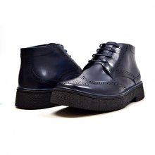 "Classic Playboy ""Classic"" Wingtip Navy Leather-TPR"