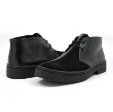 Classic Playboy Chukka Boot Black/Black Split Toe