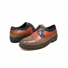 British Collection Wingtip-3 Tone-Brown, Rust, Navy
