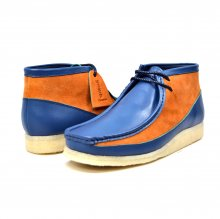 "British Collection ""Walkers""-Navy Leather and Rust Suede"