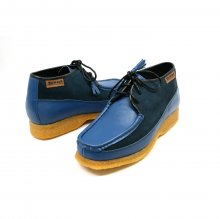 British Collection Knicks Light Blue/ Navy Suede