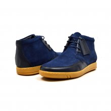 "British Collection ""Birmingham"" Navy Suede and Leather"