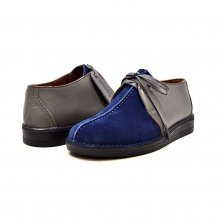 "British Collection ""Kingston,"" Navy Suede/Gray Leather Split-Toe"