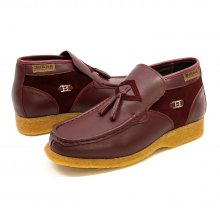 British Collection Palace-Burgundy Leather/Suede Slip-on
