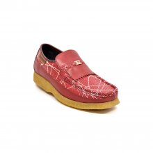 British Collection Apollo Red Snake Skin Leather