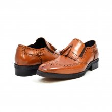 "British Collection ""Rick"" Cognac Leather Slip-on"