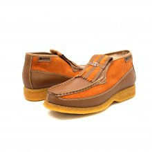 British Collection Apollo-Rust Leather/Rust Suede Slip-on