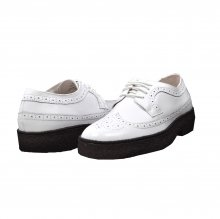 British Collection Wingtip Low Cut White Leather