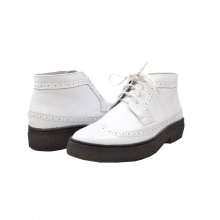 British Collection Wingtips Limited-all White Leather