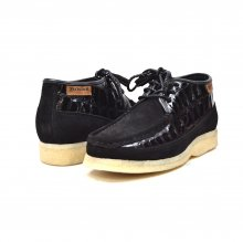 British Collection Knicks Croc-Black Suede and Croc