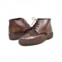British Collection Wingtips Limited-Brown Leather and Suede