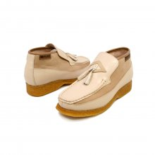 British Collection Classic Beige Leather Slip-on with Tassle