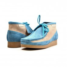 "British Collection""New Castle""-Blue and Beige Suede"