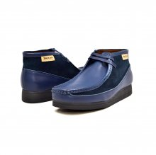 "British Collection""New Castle""-Navy Leather and Suede"