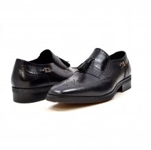 "British Collection ""Rick"" Black Leather Slip-on"
