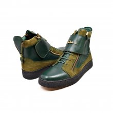 "British Collection ""Empire Green Leather High Top w/Crepe Sole"
