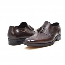 "British Collection ""Rick"" Brown Leather Slip-on"
