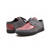 "British Collection ""Bristols"" Burgundy Leather and Grey Suede"