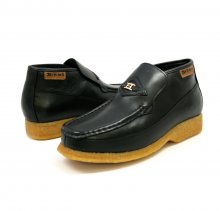 British Collection BWB-Black Leather Slip-on