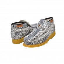 British Collection BWB-Gray Snake Skin Leather Slip-on
