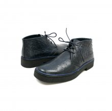 Classic Playboy Chukka Boot Navy Ostrich Leather