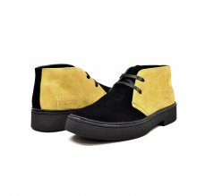 "Classic Playboy ""Jamaica"" Yellow, Black, Green Suede"