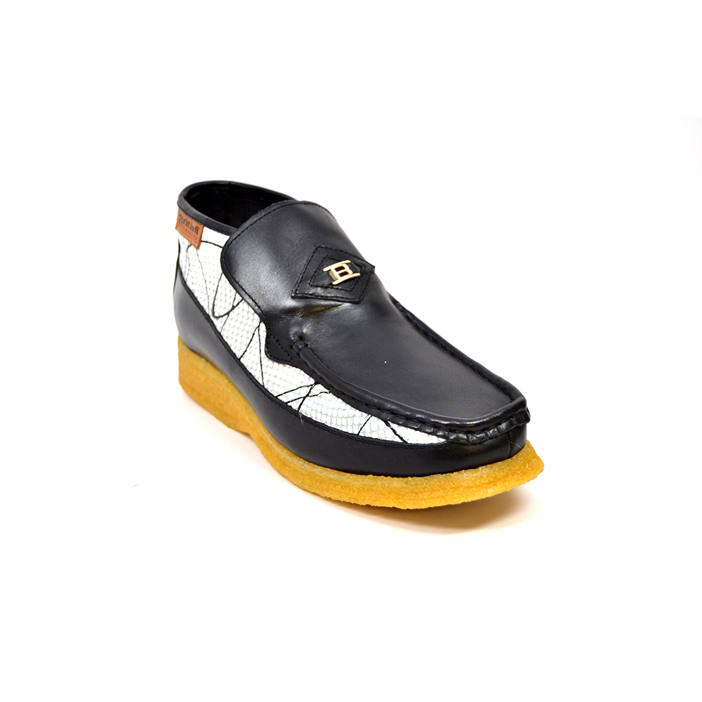 British Collection BWB-Black and White Design Leather Slip-on  2696 ... 38eb0149a