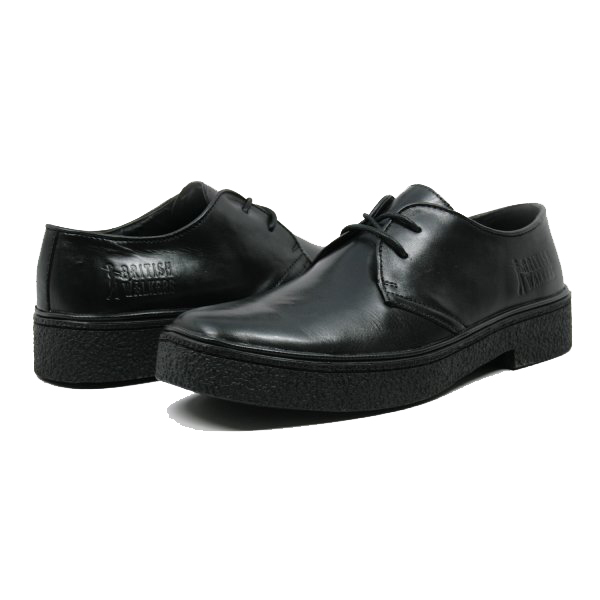 British Collection Men's Playboy Low Cut Black Leather
