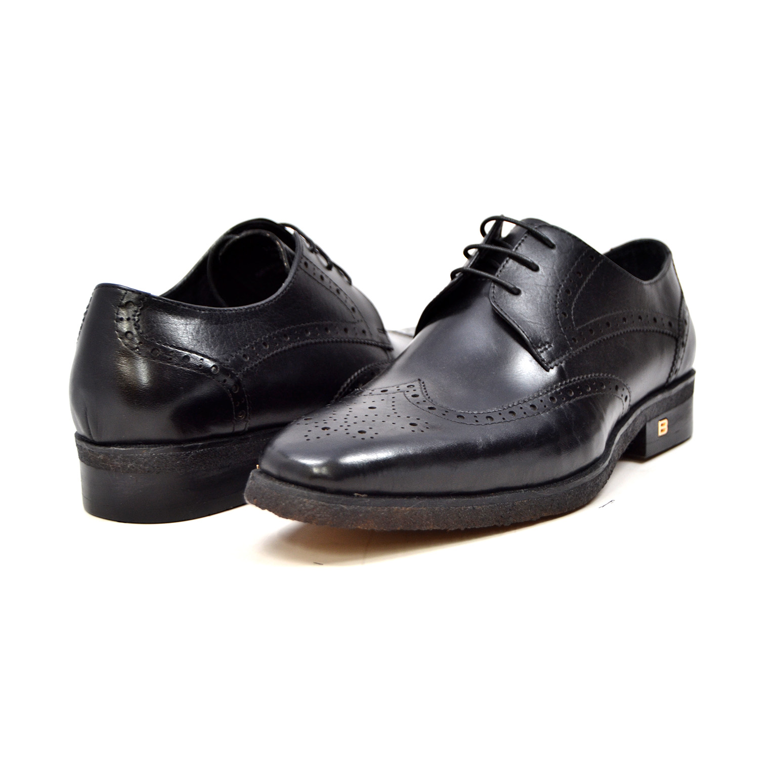 "British Collection ""Charles"" Black Leather Oxford"