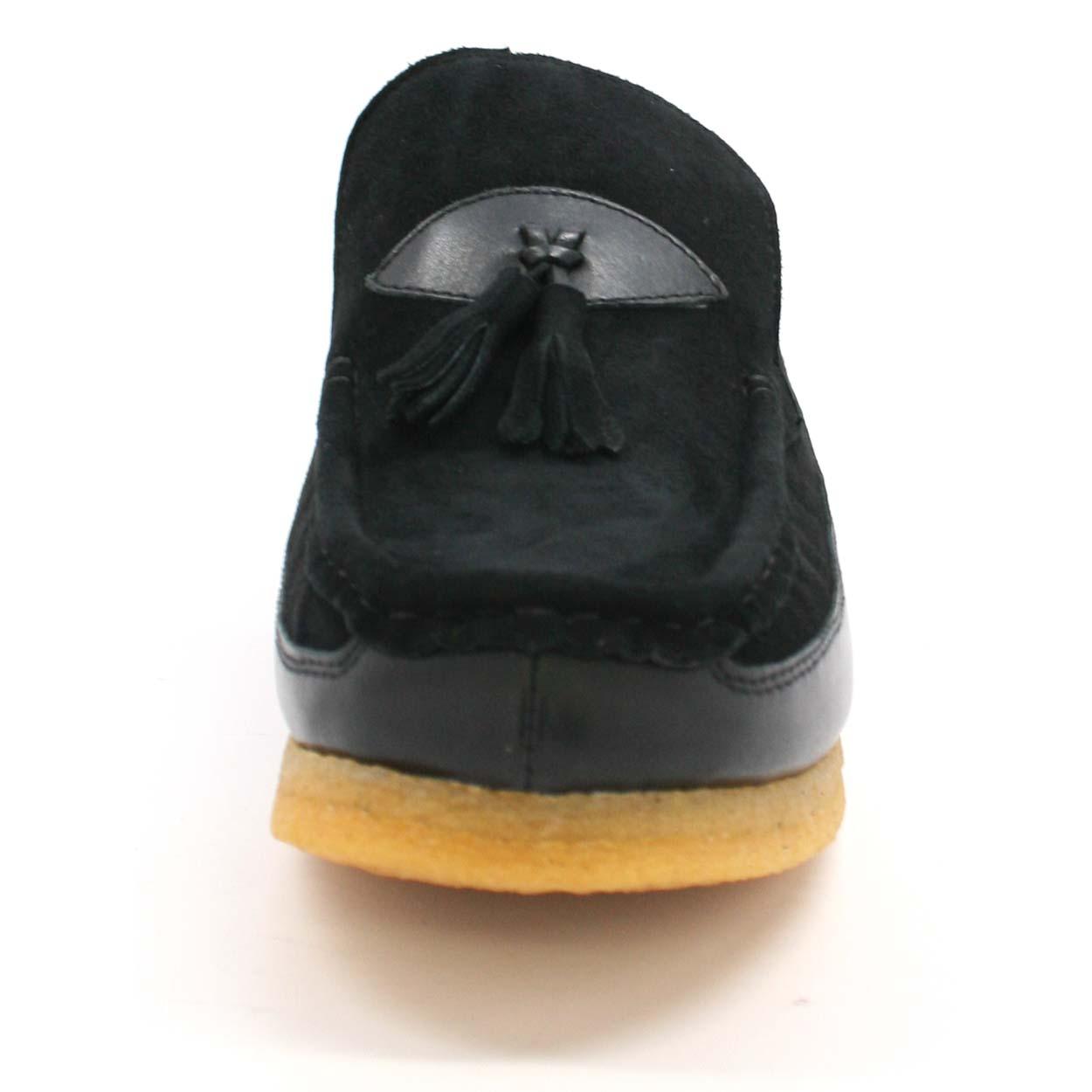 British Collection King Old School Slip On Black Suede