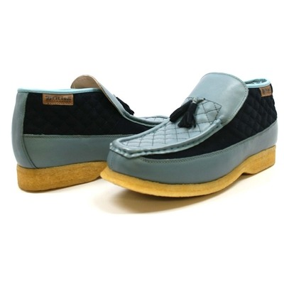 British Collection Men's Prince Slip On Leather Shoes Navy/Blue