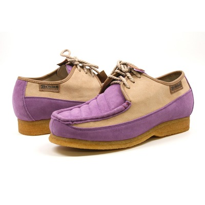British Collection Crown-Lavender/Beige Oxford Leather Suede