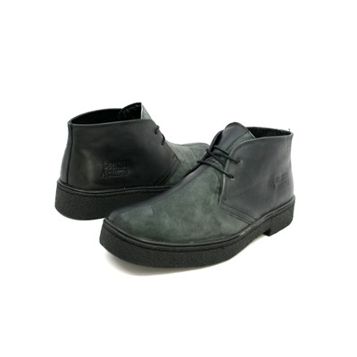 Classic Playboy Chukka Boot  Split Toe Black/Grey Leather