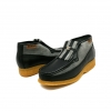 British Collection Apollo-Black and Grey Leather/Suede Slip-on