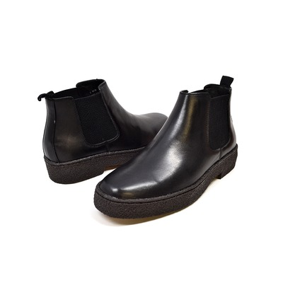 British Collection Playboy-Soho Slip-on Black Leather