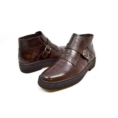 British Collection-Playboy Manhattan Brown Leather Wingtips