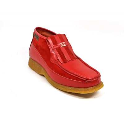 British Collection Apollo 2 Red Leather and Suede