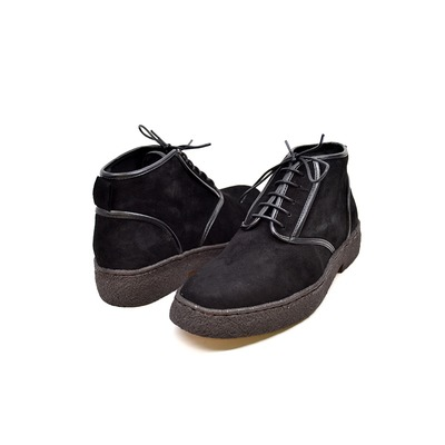 "British Collection Playboy Chukka ""kaydence"" Black Lamb Suede"