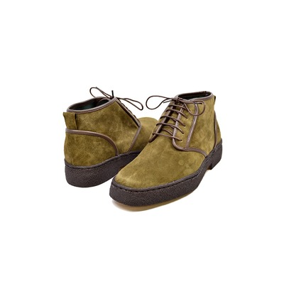 "British Collection Playboy Chukka ""Kaydence"" Olive Lamb Suede"