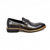 "British Collection ""Dolche"" Black Ostrich Leather"