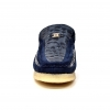 "British Collection ""Stone""  Navy Pattern and Suede"