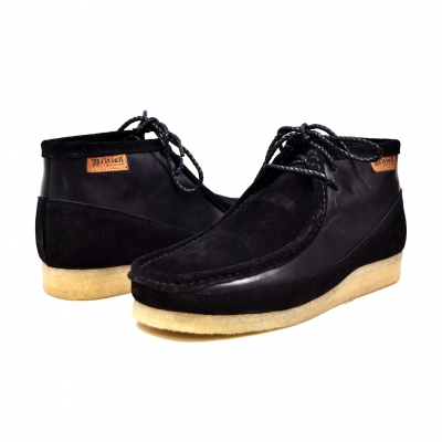 "British Collection ""Walkers""-Black Leather and Suede"